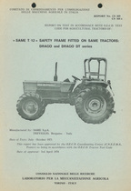 Report test of safety frame SAME T 12 mounted on agricultural tractors SAME Drago and SAME Drago DT