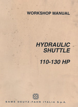 HYDRAULIC SHUTTLE 110-130 HP - Workshop manual