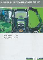 AGROFARM TTV 420 - AGROFARM TTV 430 - Betriebs - und Wartungsanleitung