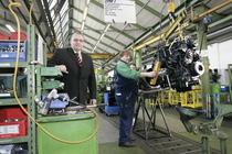 Linea di produzione di Lauingen: assemblaggio motori