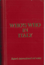 COLOMBO Giancarlo, WHO'S WHO IN ITALY, Zurich, Who's who edition, 2002