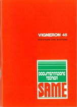 VIGNERON 45 - Bedienung und instandhalthung
