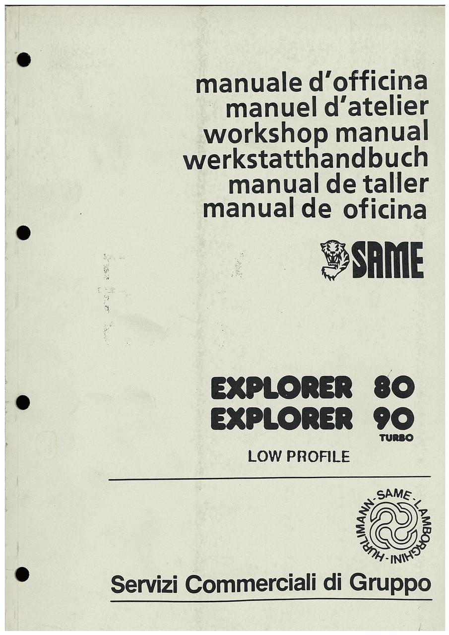 EXPLORER 80-90T SPECIAL LOW PROFILE - Workshop manual