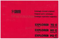 EXPLORER 70-80 C ERGOMATIC >11000 - 90 C TURBO - Catalogo ricambi originali / Original parts catalogue / Catálogo repuestos originales