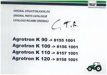 AGROTRON K 90-100-110-120 - Original Ersatzteilkatalog / Original parts catalogue / Catalogo ricambi originali