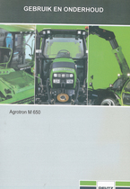 AGROTRON M 650 - Gebruik en onderhoud