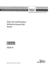 PLAN DE LUBRIFICATION ECTRON 5530 H - Notice d'utilisation