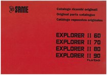 EXPLORER II 60-70-80-90 TURBO - Catalogo Parti di Ricambio / Spare parts catalogue / Lista de repuestos