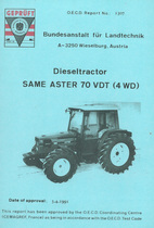 Report test of SAME Aster 70 VDT (4WD)