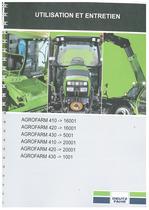 AGROFARM 410-420-430 - Utilisation et entretien