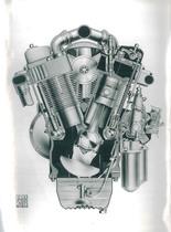 Motore Same a V 40° Sezione trasversale