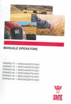 DORADO 70 ->ZKDCU20200TS10001 - DORADO 70 ->ZKDCV40200TS10001 - DORADO 80 ->ZKDCU60200TS10001 - DORADO 80 ->ZKDCV80200TS10001 - DORADO 85 ->ZKDCV00200TS10001 - DORADO 85 ->ZKDCW20200TS10001 - Manuale operatore