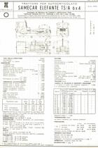 Atto di omologazione del trattore per autoarticolato SAME Samecar Elefante TS/A 6x4