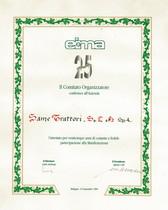 EIMA 25° Anniversario - Attestato di fedeltà e partecipazione a SLH Spa