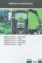 AGROPLUS 320 V -> 5001/15001 - AGROPLUS 330 V -> 15001 - AGROPLUS 410 V -> 5001/15001 - AGROPLUS 420 V -> 5001/15001 - AGROPLUS 430 V -> 15001 - Gebruik en onderhoud