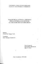 BRIOSCHI Massimiliano, Analisi delle attività aziendali per il controllo di gestione: il caso SAME DEUTZ-FAHR GROUP