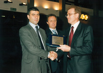 Premiazione del Gruppo SAME DEUTZ-FAHR durante l'Eima di Bologna e alla presenza del Ministro delle Politiche Agricole e Forestali Alfonso Pecoraro Scanio