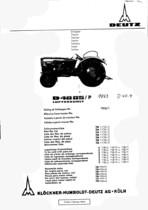 D 4005/P - Ersatzteilliste / Spare parts catalogue / Catalogue de pièces de rechange / Lista de repuestos