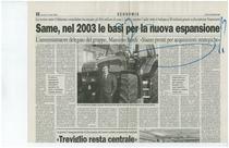 SAME, nel 2003 le basi per la nuova espansione