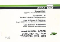 BISO/KPAB POWERLINER - ACTOR - STARLINER -ECTRON - TOPLINER - 5670-5690 - Ersatzteilliste / Spare parts list / Liste de pièces de rechange / Lista de piezas de recambio