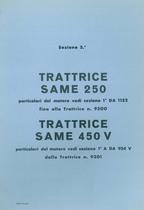 Sez. 5 - SAME 250- SAME 450 V - Catalogo Parti di Ricambio / Catalogue de pièces de rechange / Spare parts catalogue / Ersatzteilliste