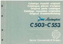 C 503 - C 553 - Catalogo Parti di Ricambio / Pièces de Rechange du Tracteur / Tractor Spare Parts / Ersatzteile für den Schleppers / Repuestos para Tractor