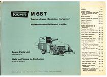 M 66 T - Tractor-drawn Combine Harvester / Moisseneuse-Batteuse tractée - Spare Parts List / Liste de Pièces de Rechange