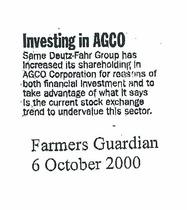 Investing in AGCO