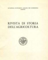 RIVISTA DI STORIA DELL'AGRICOLTURA, 1971