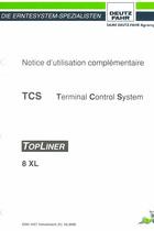 TCS TOPLINER 8 XL - Notice d'utilisation complémentaire