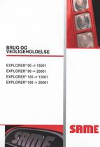 EXPLORER³ 90 ->15001 - EXPLORER³ 90 ->20001 - EXPLORER³ 105 ->15001 - EXPLORER³ 105 ->20001 - Brug og vedligeholdelse