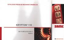 KRYPTON³ 110 - Catalogue pièces de rechanges originales