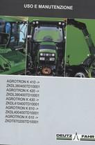 AGROTRON K 410 -> ZKDL380400TD10001 - AGROTRON K 420 -> ZKDL390400TD10001 - AGROTRON K 430 -> ZKDL410400TD10001 - AGROTRON K 610 -> ZKDL400400TD10001 - AGROTRON K 610 -> ZKDT670200TD10001 - Uso e manutenzione