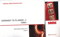 DORADO³ 70 CLASSIC ->10001 - Original-Ersatzteilkatalog