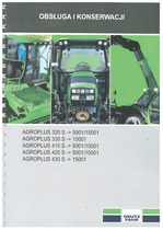 AGROPLUS 320-330-410-420-430 S - Obsługa i Konserwacja