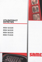 IRON 130 DCR - IRON 140 DCR - IRON 160 DCR - IRON 175 DCR - Utilisation et entretien