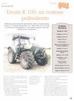 Deutz K 100: un trattore polivalente