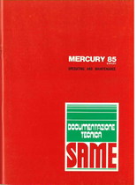 MERCURY 85 EXPORT- Operating and maintenance