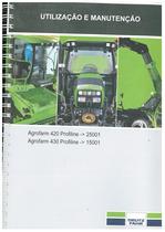 AGROFARM 420-430 PROFILINE - Uso e Manutenção