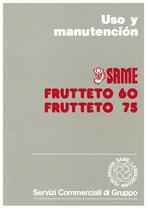 FRUTTETO - 60-75 - Uso y manutencion
