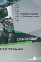 5100 - 5100P - 5110 - 5110P - 5120 ->ZKDBA202W0TD20001 - 5120P ->ZKDBA602W0TD20001 - 5130 - 5130P - Operator's manual