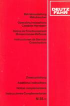 M 35.70 - Betriebsanleitung - Zusaztzaleitung / Operating instructions - additional instructions / Notice de fonctionnement - notice complémentaire / Instrucciones de servicio - instrucciones complementarias