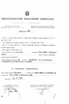 Atto di omologazione della trattrice SAME Aurora 45 Frutteto DT