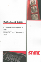 EXPLORER³ 90 T CLASSIC ->10001 - EXPLORER³ 105 T CLASSIC ->10001 - Kullanma ve bakim