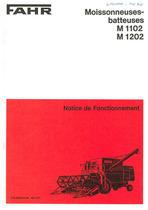 FAHR M 1102-1202 Moissonneuses-batteuses - Notice de fonctionnement