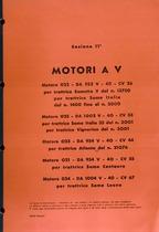 Sez. 11 - MOTORI a V - DA 952V-DA 954V-DA 1002V-DA 1004V - Catalogo Parti di Ricambio / Catalogue de pièces de rechange / Spare parts catalogue / Ersatzteilliste / Lista de repuestos