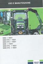 6060 -> 16001 - 6060 HTS -> 16001 - 6065 HTS -> 16001 - 6090 -> 16001 - 6090 HTS -> 16001 - 6095 HTS -> 16001 - Uso e manutenzione