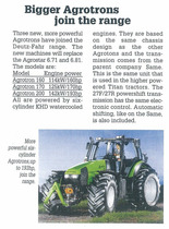 Bigger Agrotrons join the range