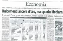 Italcementi ancora d'oro, ma spunta Mediamarket. Il gruppo di Curno, primo nel commercio, soffia il secondo posto a SAME.