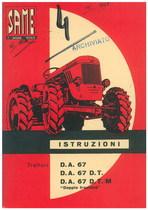 """D.A. 67 - D.A. 67 D.T. - D.A. 67 D.T./M """"DOPPIA TRAZIONE"""" - Libretto uso & manutenzione"""